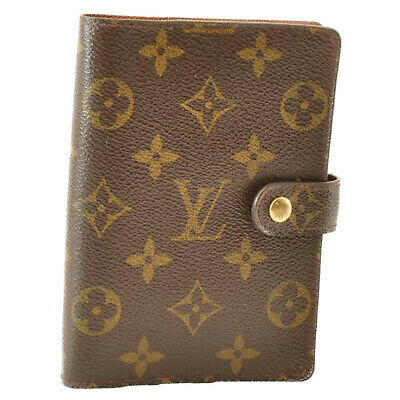 LOUIS VUITTON Monogram Agenda PM Day Planner Cover R20005 LV Auth cr014