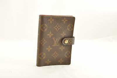 LOUIS VUITTON Monogram Agenda PM Day Planner Cover R20005 LV Auth cr012 **Sticky