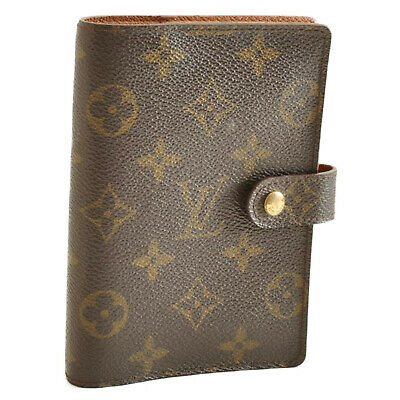 LOUIS VUITTON Monogram Agenda PM Day Planner Cover R20005 LV Auth cr010 **Sticky