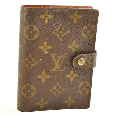 LOUIS VUITTON Monogram Agenda PM Day Planner Cover R20005 LV Auth cr009 **Sticky