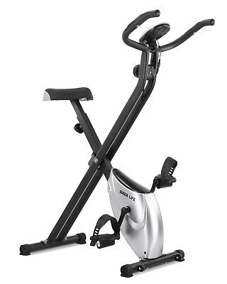 Foldable Exercise Bike Magnetic Upright Bike with Heart rate Sensor Unisex