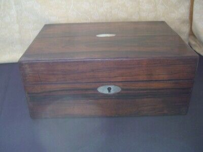 Vintage Wooden Writing Box ~ in need of work