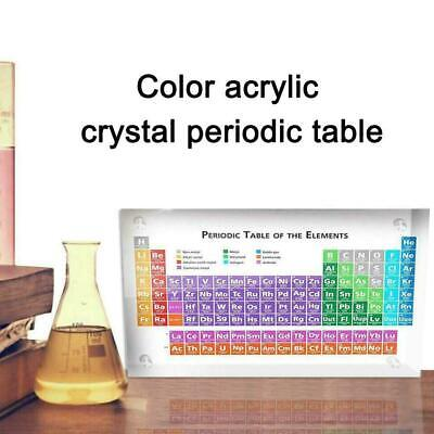 Periodic Table Display with Elements Transparent& Colorful kids toy A1D4