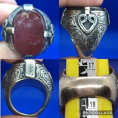wonderdul excellent agate stone solid silver ring