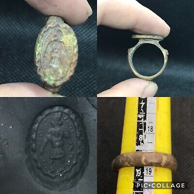 Roman Empire ancient patina lovely  bronze ring