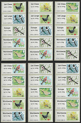 GB 2011 Birds of Britain II Post and Go u/m mnh stamps machine vended x 30