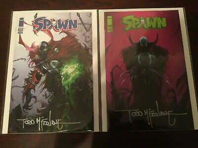 Spawn 299 Sdcc And Fan Expo Boston  Signed By Todd Mcfarlane At Fan Expo Boston