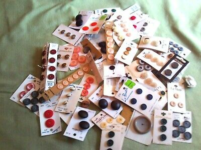 Vintage Lot Buttons on Cards