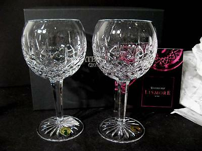 Waterford Lismore Balloon Wines  Set Of 2 In Box Never Used