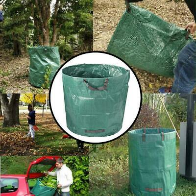 80/132 Gallon Garden Leaves Basket Reinforced Weave Bags Rubbish Garbage Tr B7G8