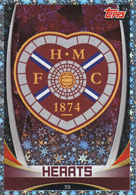 TOPPS MATCH ATTAX SPFL 2019-20 - Club Badge - Heart of Midlothian - # 55