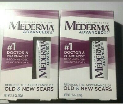 Mederma Advanced Scar Gel 1.76 oz (Pack of 2) Free Shipping Exp: 12/20196