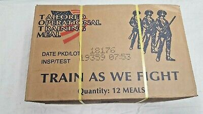 Sealed Case Of 12 TOTM US Military Meal - MRE - Food/Rations 2019 Insp Date