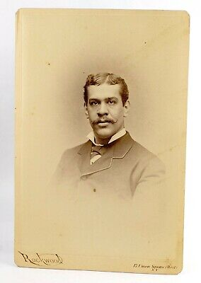 BLACK / AFRICAN AMERICAN / CELEBRITY? - CABINET CARD PHOTO by ROCKWOOD NYC