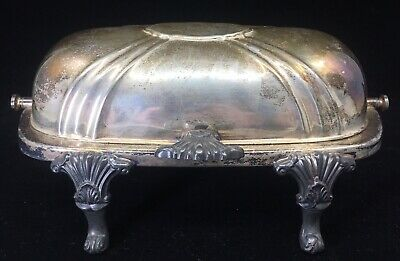 Vintage Footed Butter Dish EPCA Bristol Silver 46 Plate Poole  - Patina NM Cond