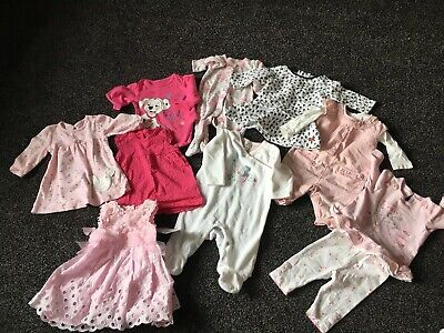 Lovely Bundle X 9 Items Girls Baby 0-3M Clothes Next John Lewis & Other Used
