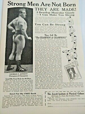 Mar 1929 Magazine Page #A204- Strong Men Are Not Born- George F. Jowett Champion