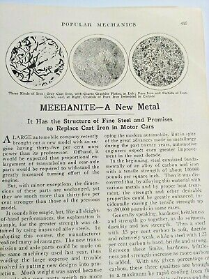 Mar 1929 Magazine Page #A216- Meehanite- A New Metal- 2 Pgs