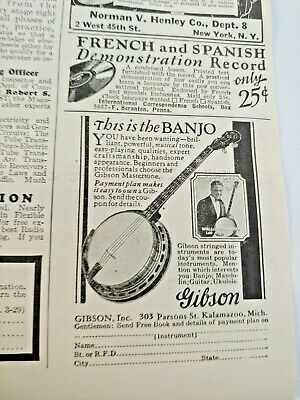 Mar 1929 Magazine Page #A205- Gibson- This Is The Banjo You Have Been Wanting