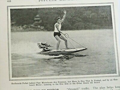 Mar 1929 Magazine Page #A214- Surfboard Run By Motor Gives Water Thrills