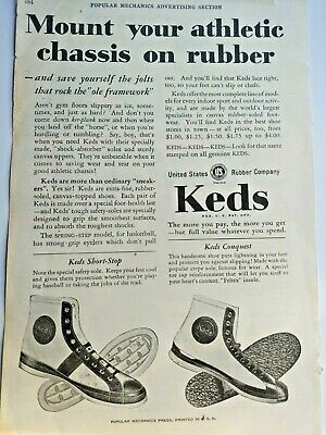 Mar 1929 Magazine Page #A186- Keds Sneakers- Chassis On Rubber