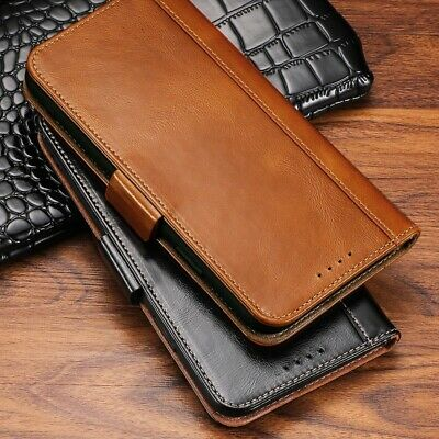 For iPhone 11 Pro Max/Pro Genuine Leather Magnetic Credit Card Cover Wallet Case