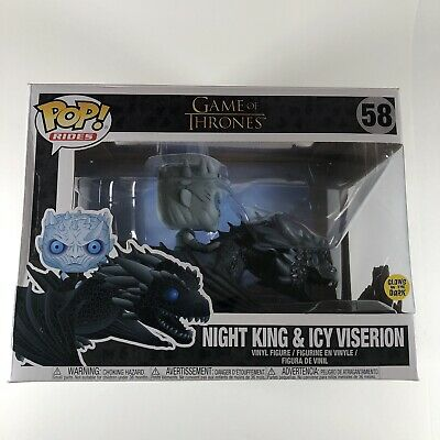 Funko Pop Game Of Thrones Night King & Icy Viserion 58 (Refer To Box Condition)