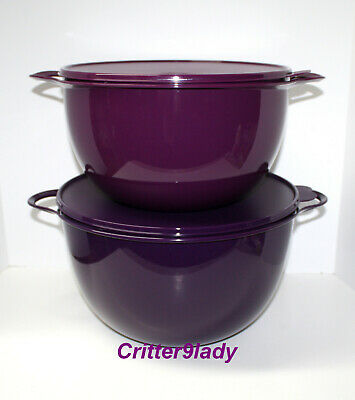 NEW Tupperware Classic Thatsa Nesting JUMBO and MEGA Bowl Shades of Purple