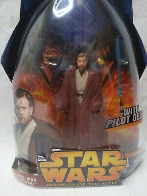 Star Wars Revenge of the Sith Obi-Wan Kenobi Figure Pilot Gear MOC 2005 Hasbro