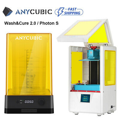 US ANYCUBIC Photon S 3D Printer Fully assembled Double Z axis UV 405nm Resin FEP