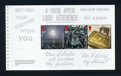 GB 2014 Booklet pane 1914 FIRST WORLD WAR  SG 3629b  MNH / UMM FV£4.41  (S10)