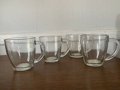 Tazo Square Clear Etched Tea Cups 4