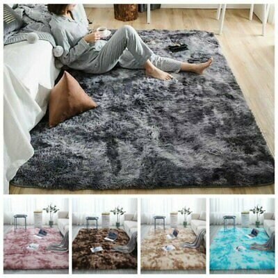 Comfortable Long Plush Fluffy Rugs Anti-Skid Shaggy Area Rug Dining Room Bedroom