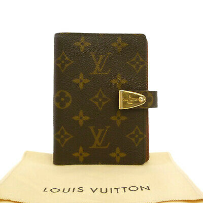 Auth LOUIS VUITTON Agenda PM Partner Day Planner Cover Monogram R21029 #S310023