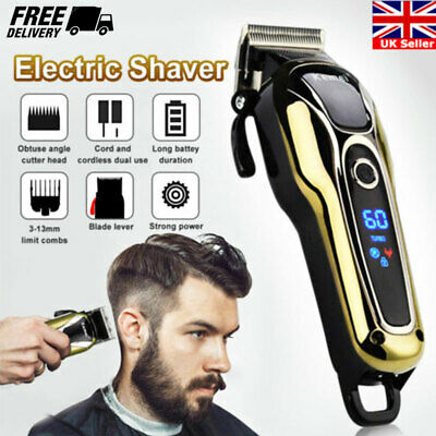 KEMEI Professional Electric Men Hair Clipper Shaver Trimer Cutter Cordless Razor