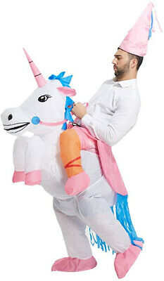 Inflatable Unicorn Costume Rider Halloween Themed Blow Up For Adult Or Child