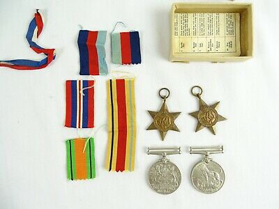 Collection of War medals for  Mr Porcher Esq Defence Medal African Star etc