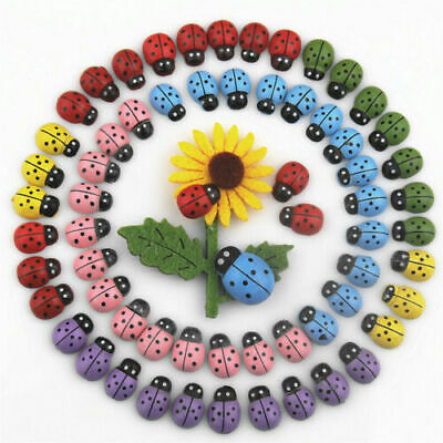 100 Flatback Miniature Ladybird Ladybug Garden Ornament Figurine Dollhouse Decor