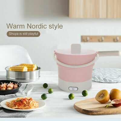 Electric Hot Pot Cooker Portable/Multi-function Travel Folding Electric Skillet