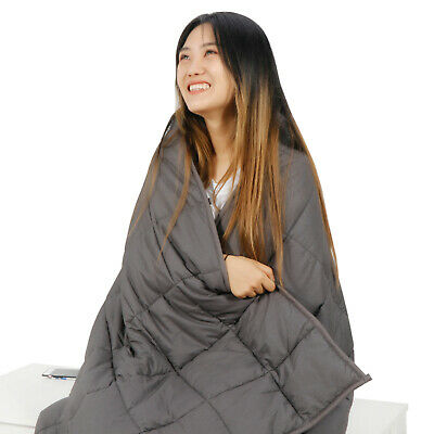"""Used 60"""" x80"""" Weighted Blanket Full Queen Size Reduce Stress Promote Sleep 20lb"""