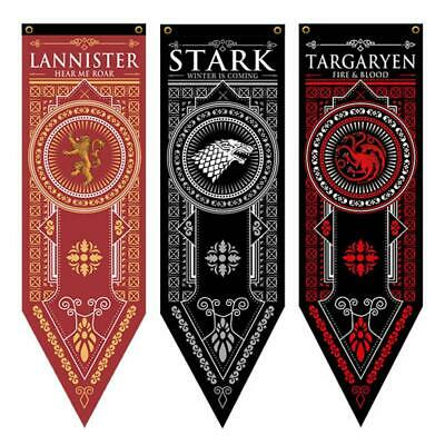 Game of Thrones Jon Snow Stark Banner Tapestry Family House Flag Hanging Decor
