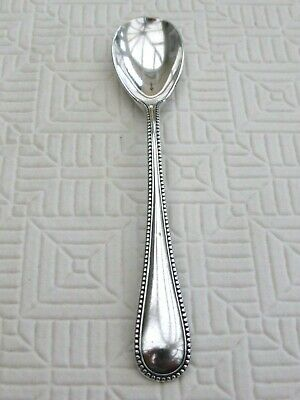 Art Deco Silver Plated Old English & Bead Pattern Mustard Spoon   1500022/026