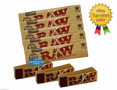 RAW Rolling Papers King Size Slim 110mm CLASSIC with Roach Filter Tips Rizla Kit