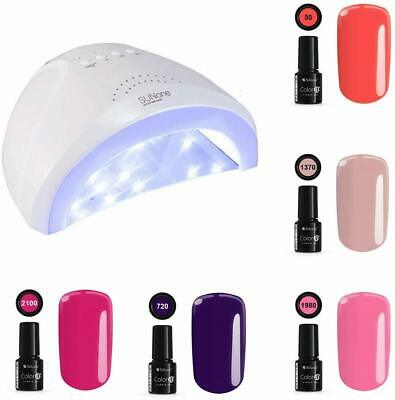 LAMPADA FORNETTO UNGHIE UV 48w LED SUN ONE+5 SMALTI SEMIPERMANENTI Gel Polish 8g
