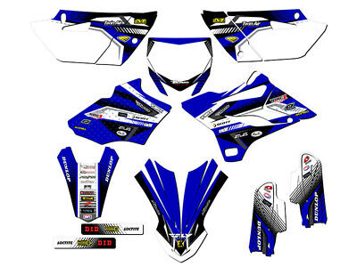 NEW TEAM YAMAHA RACING GRAPHIC DECAL YFZ450R YFZ 450R WHITE//BLUE SSI DECALS