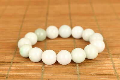 rare chinese natural jade Hand carving bead bracelet noble gift decoration