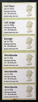 GB 2014 Post and Go Error Stampex Spring Inscribed Instead of Stampex 2014 BQ169