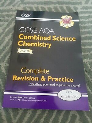CGP GCSE AQA Combined Science Chemistry Revision Guide & Pratice. Like new