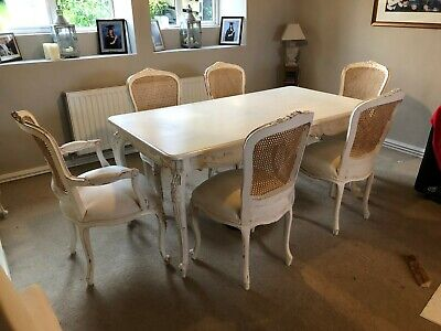 Dining Table & Chairs - french country styled shabby chic