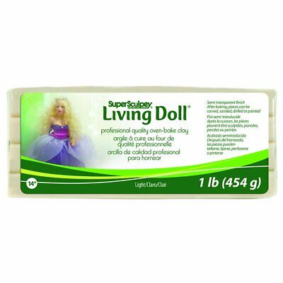 POLYFORM PRODUCTS COMPANY SUPER SCULPEY LIVING DOLL CLAY 1 POUND-LIGHT (86y)